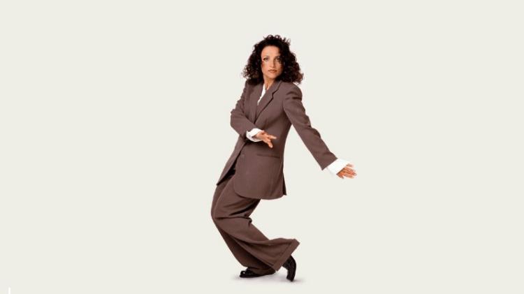 Julia Louis-Dreyfus ble verdenskjent for sin rolle som Elaine Benes  i «Seinfeld». Dansescenen har gått inn i tv-historien. (Promofoto: Sony/NBC)