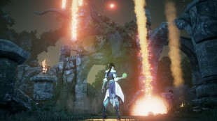 Glory bruker sin apokalypsemagi for å slå ned mange fiender. Skjermbilde fra «Fable: Legends». (Foto: Lionhead Studios)