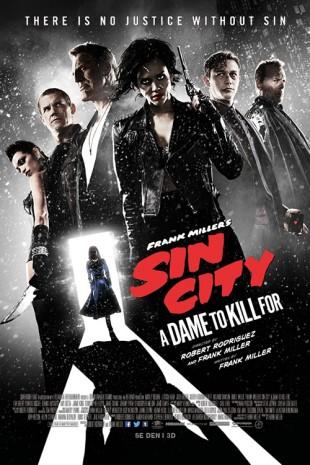 Forventingene til oppfølgeren til «Sin City» (2005) har vært svært høye. Den særprege visuelle stilen emulerer tegneserien skrevet og tegnet av Frank Miller i 1993. Filmplakat for «Sin City: A Dame to Kill For». (Foto: SF Norge)