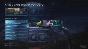 Et enkelt og ryddig menysystem knytter de fire spillene sammen på en oversiktelig måte. (Promofoto: Microsoft / 343 Industries)