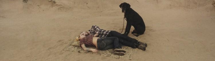 Par med hund på strand i En due satt på en gren og funderte over tilværelsen (Foto: SF Norge AS).