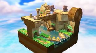 Brettene i «Captain Toad: Treasure Tracker» er små dioramaer som kan roteres rundt. (Foto: Nintendo)