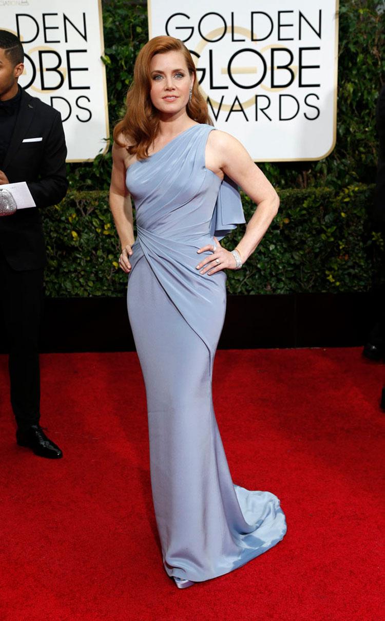 Amy Adams vant pris for beste skuespiller i en komedie for 'Big Eyes'. (Foto: REUTERS/Mario Anzuoni, NTB Scanpix).