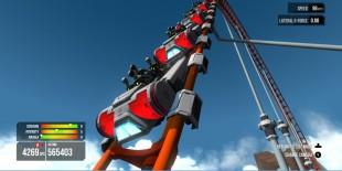 Kommer du i mål uten at noen ramler ut? Skjermbilde fra «Screamride». (Foto: Frontier)