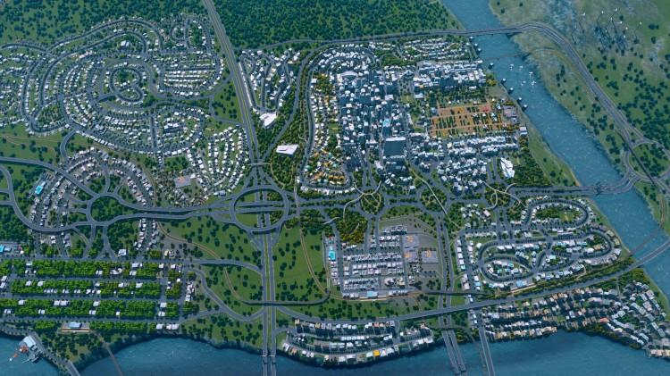Spillområdene er store og kan etterhvert utvides mer. Det gir «Cities: Skylines» en skala andre byspill bare kan drømme om. (Foto: Colossal Order)