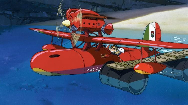 Flysekvensene i «Porco Rosso» er ren og skjær underholdning. (Foto: Arthaus).