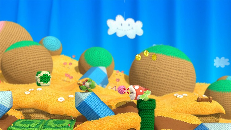 Når Yoshy spiser fiendene sine, kan han poppe ut garnnøster som han kan skyte med. (Foto: Nintendo)