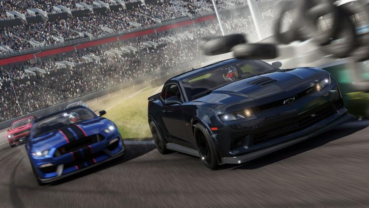 Ublidt møte med en dekkbarriere i Forza Motorsport 6 (Foto: Microsoft).