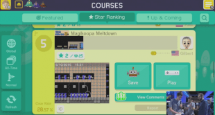 I «Course World» kan du spille andre brukerskapte brett. Lister viser de mest populære og utvalgte brett, men i all hovedsak er det vanskelig å finne frem til de gode utfordringene. (Foto: Nintendo)
