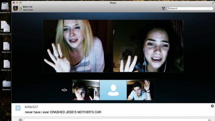 Vennnene tvinges til kjipe avsløringer i Unfriended (Foto: United International Pictures).