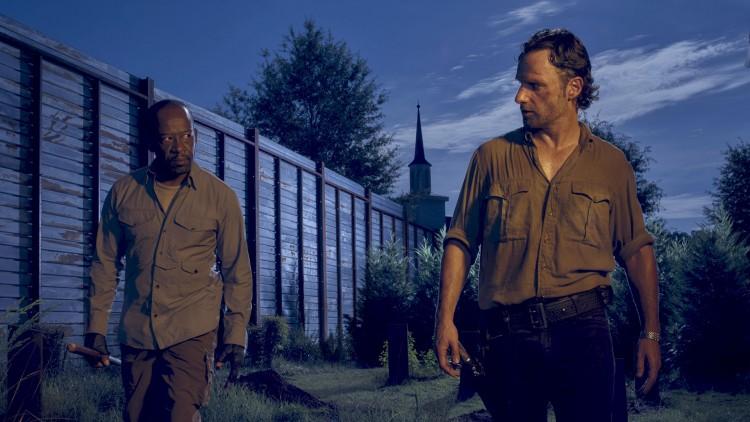 Morgan (Lennie James) og Rick (Andrew Lincoln) i sjette sesong av The Walking Dead. (Foto: Frank Ockenfels 3/AMC).