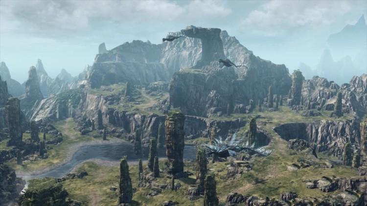 Det er en enorm spillverden å utforske i Xenoblade Chronicles X. (Foto: Nintendo / MONOLITHSOFT).