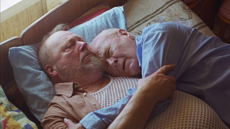 Stein Winge og Jan Malmsjö spiller hovedrollene i kortfilmen Takk for turen. (Foto: Filmbros)