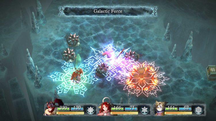 Du kan ha tre figurer i gruppen din i I am Setsuna. (Foto: Square Enix).