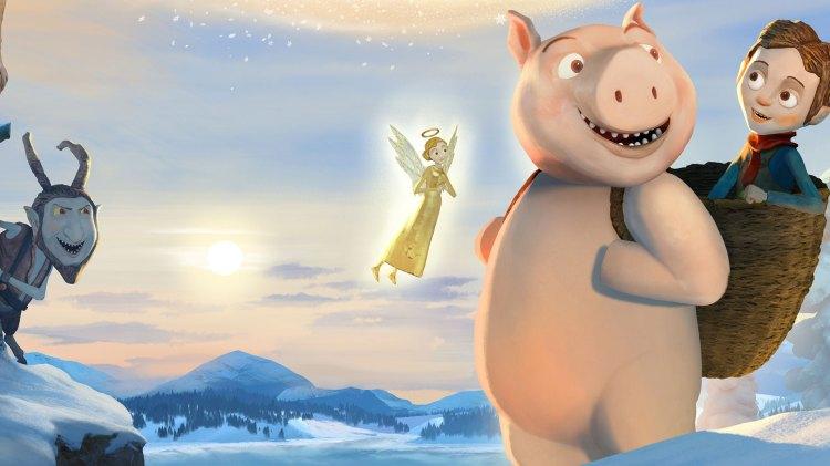 Hornete Krampus (Morten Røhrt) er en av figurene som gjør Den magiske juleesken til en original og morsom julefilm. Her lurer han i hjørnet. (Foto: KontxtFilm)