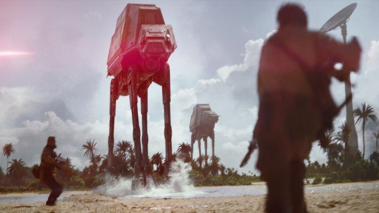 AT-AT i solnedgang. Eventuelt dagslys... (Foto: The Walt Disney Company Nordic, Lucasfilm Ltd.)