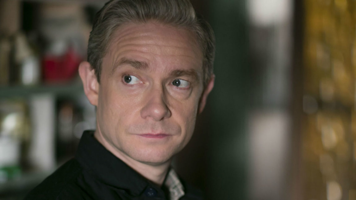 Martin Freeman spiller som alltid godt i fjerde sesong av Sherlock. (Foto: BBC).