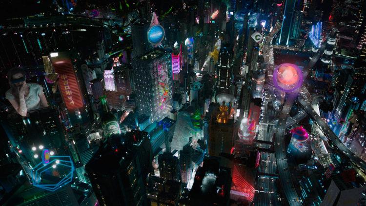 """New Port City er åsted for begivenhetene i """"Ghost in the Shell"""". (Foto: United International Pictures)"""