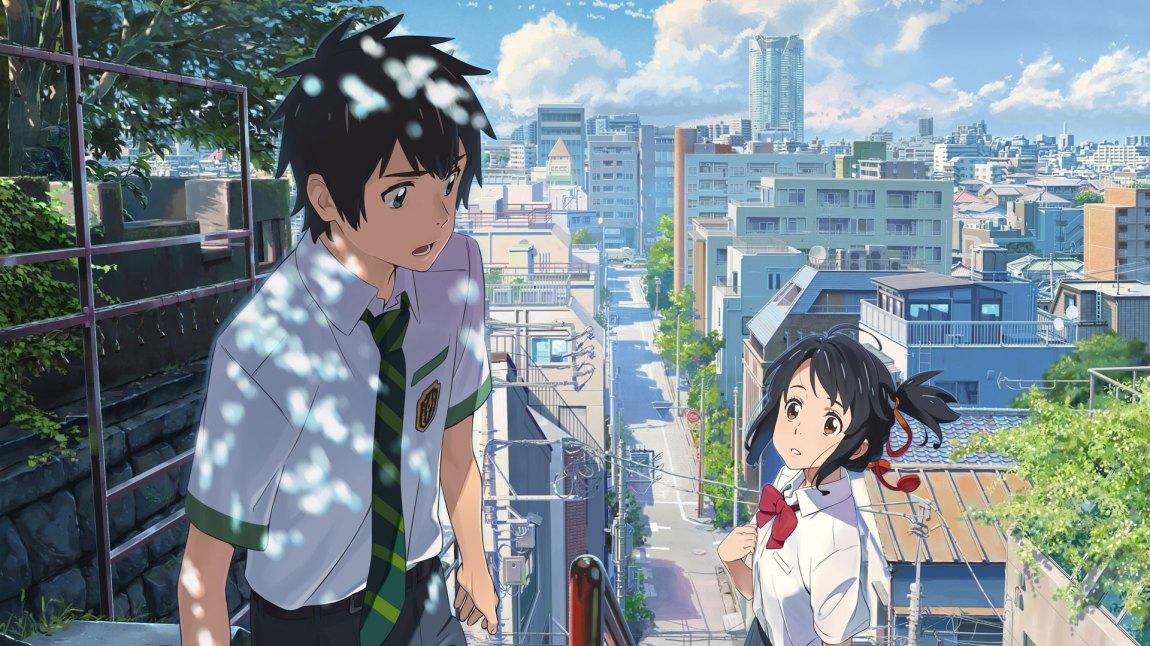 Filmskaper Makoto Shinkai har skrevet og regissert en vakker, variert og stemningsfull film som spiller utmerket på skillet mellom tradisjoner, natur og moderne byliv.  (Foto: Arthaus)