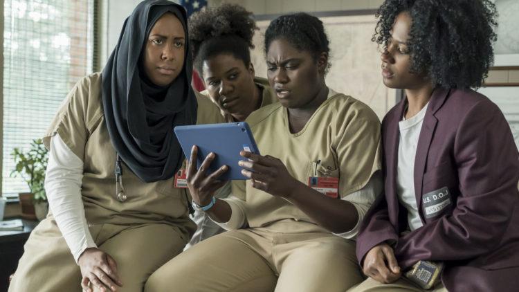 Taystee Jefferson (Danielle Brooks) må kjempe mot sin egen hevnlyst og for en større sak i sesong 5. (Foto: Netflix)