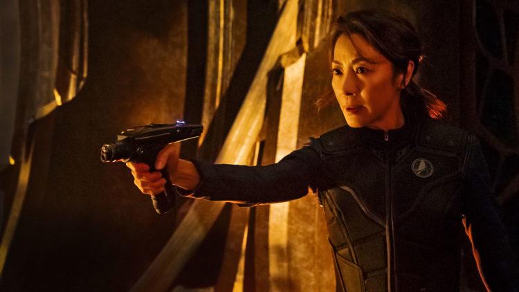 Kaptein Georgiou (Michelle Yeoh) fra seriens pilotepisode.  (Foto: Netflix, CBS)