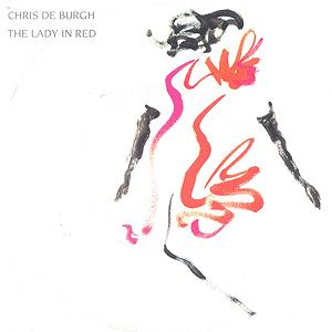 """Chris de Burghs """"The Lady in Red"""", som kom ut i 1986, mener flertallet i en undersøkelse er tidenes «flaueste» kjærlighetslåt."""