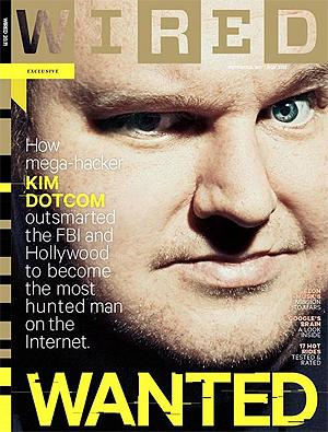 Kim Dotcom blir i oktoberutgaven av magasinet Wired portrettert som «den mest ettersøkte mannen på nettet». Foto: Promo.