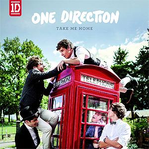 One Direction er også blitt historiske med album nummer to, Take Me Home. Foto: Albumcover.