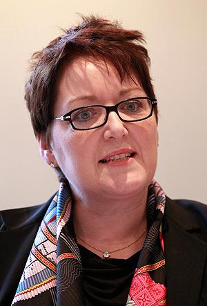 Frances Moore er sjefen for interesseorganisasjonen til de største plateselskaptene - IFPI. Foto: NTB Scanpix / Matt Dunham, AP Photo.