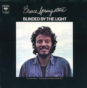 """Bruce Springsteens """"Blinded By The Light"""" skulle bli en mye større hit med noen andre. Foto: Platecover."""
