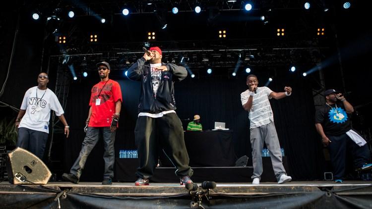 Wu-Tang Clan på Øya 2013. Ghostface Killah i front. (Foto: Tom Øverlie, NRK P3)
