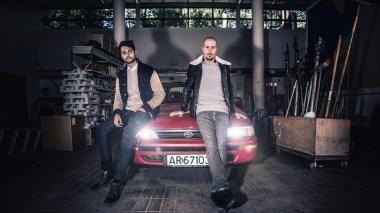 Karpe Diem auksjonerte i 2012 bort Toyota'n til Magdi under årets P3 Aksjon. (Foto: Kim Erlandsen, NRK P3)