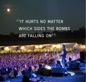 Dette bildet ble lagt ut sammen med Eddie Vedders uttalelser på Pearl Jams nettside. (Foto: pearljam.com)