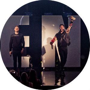 Chirag og Magdi ble mildt sagt overrasket da Karpe Diem stakk av med P3-prisen. Foto: Tom Øverlie, NRK P3
