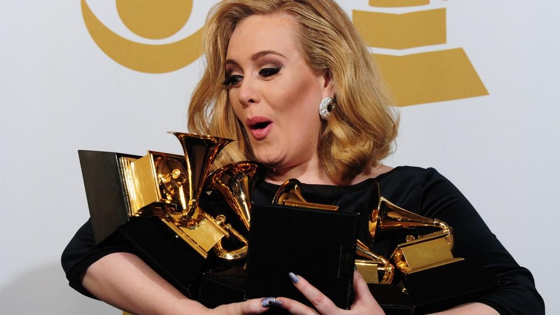 Adele vann seks Grammy-prisar i 2011. (Foto: AFP Photo/ Frederic J. Brown)
