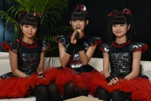 Fra venstre: Moa (15), Suzuka (17) og Yui (15) har med Babymetal gjort stor suksess i hjemlandet Japan. (Foto: NTB Scanpix, Toru Yamanaka)