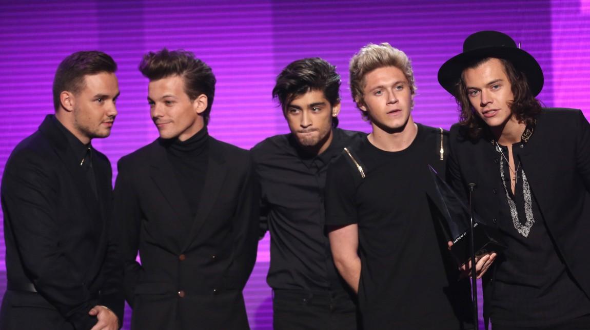 One Direction. Frå venstre: Liam Payne, Louis Tomlinson, Zayn Malik, Niall Horan, Harry Styles