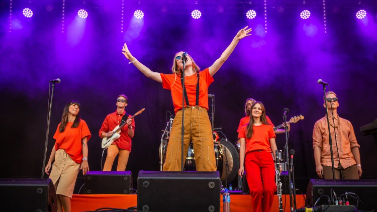 Fieh og gjengen. Foto: Tom Øverlie, NRK P3