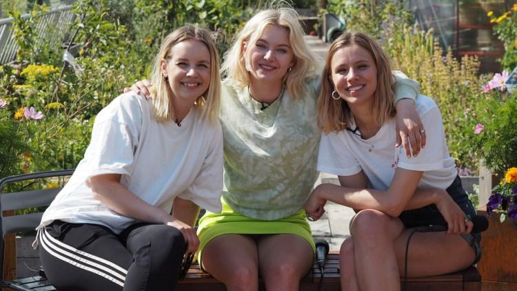 STJERNETREFF: Christine sammen med Astrid S og Dagny på premieren til det nye konseptet. Foto: Christine Dancke, NRK P3