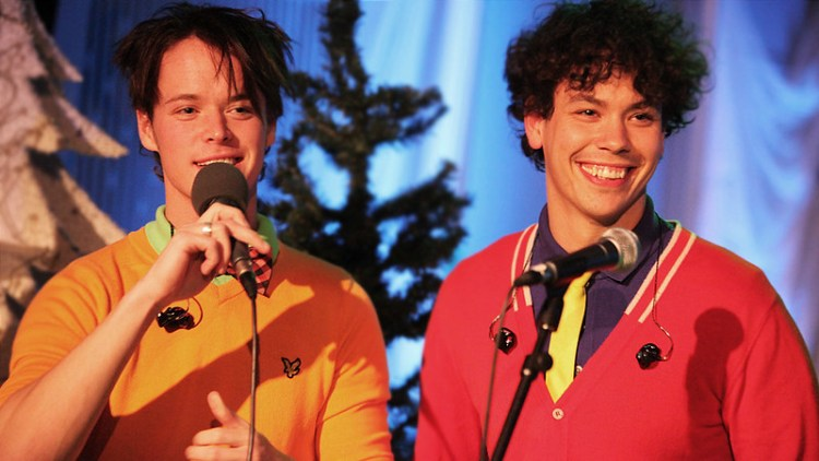 DONKEYBOYS: Kent og Cato Sundberg avbildet under P3sessions i 2009. Foto: Kim Erlandsen, NRK P3