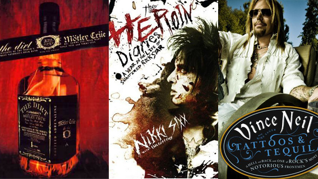 The Dirt, Heroin Diaries, og Tatoos and tequila. (Foto: Amazon.com)
