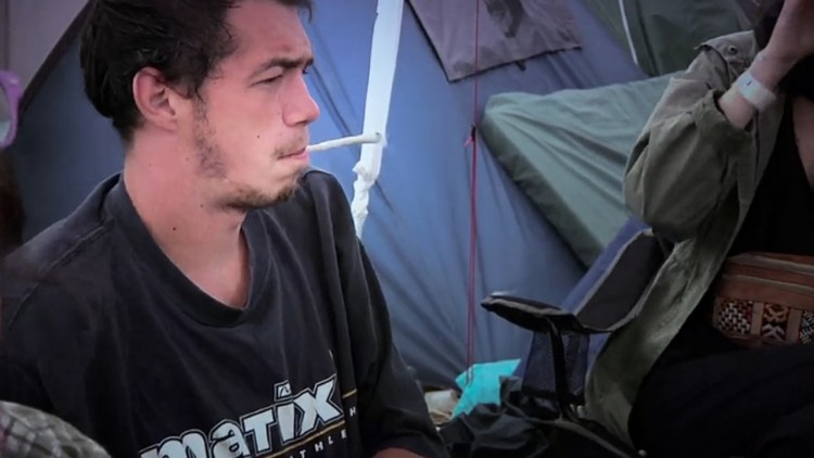 Cannabis på Roskilde-festivalen (Foto: Skjermdump)