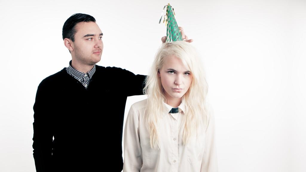 Linnéa Myhre og Andreas Øverland. (Foto: Kim Erlandsen, NRK P3)