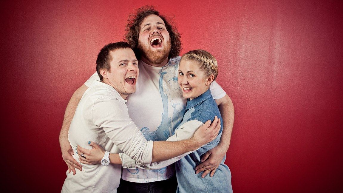 Yngve, Ronny og Silje i P3morgen. (Foto: Kim Erlandsen, NRK P3)