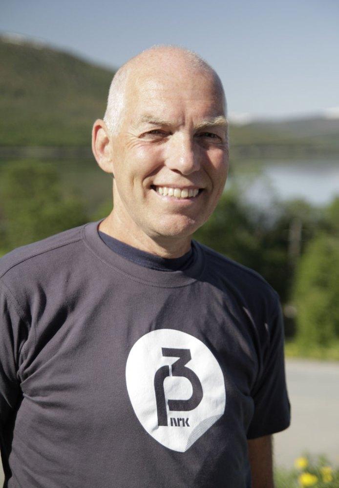 Arne Kvaal er kjent for sitt gode humør og sin hjertelige latter. (Foto: Tommy Almenning, NRK P3).