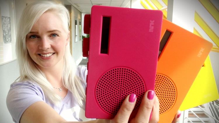 Programleder på mP3, Janne Helen. (Foto: NRK)