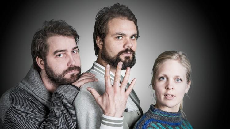 Olli Wermskog, Lars Berrum og Marte Mørland (Foto: Mattis Folkestad, NRK P3).
