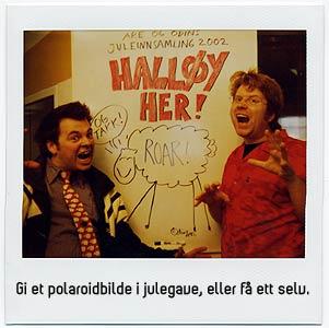Are og Odins juleinnsamling 2002. (Foto: NRK P3).