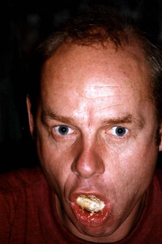 Espen Thoresen spiser lunch