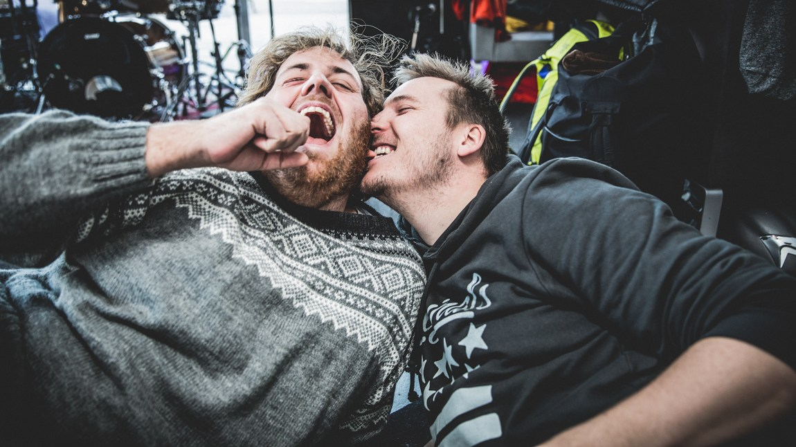 Bromance mellom Ronny og Niklas! Foto: Jonas Jeremiassen Tomter, NRK P3
